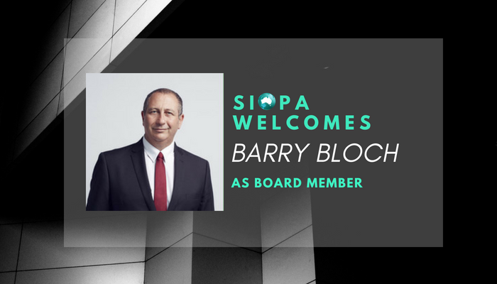 SIOPA NEWS: BARRY BLOCH APPOINTED AS BOARD MEMBER
