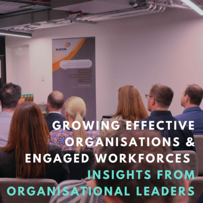 EVENT SUMMARY: INSIGHTS FROM ORGANISATIONAL LEADERS (24/10)