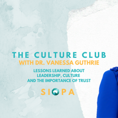 EVENT: Lessons about Leadership, Culture and the Importance of Trust with Dr Vanessa Guthrie